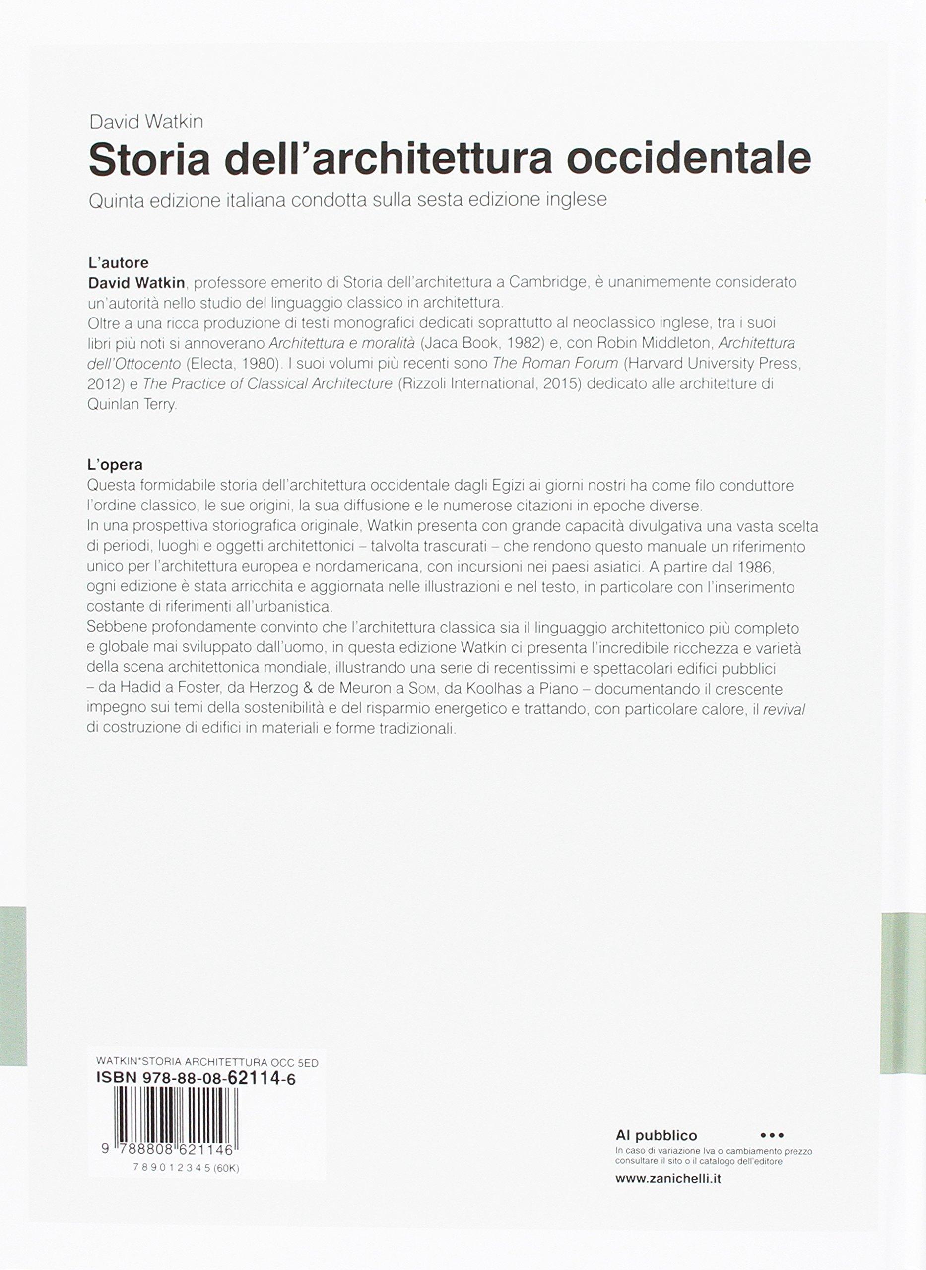 david watkin storia dell'architettura occidentale pdf download