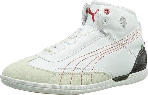 Puma Driving Power Mid SF Ferrari para Hombre Piel Zapatillas/Zapatos – Blanco, Color Blanco, Talla 43,5: Amazon.es: Zapatos y complementos