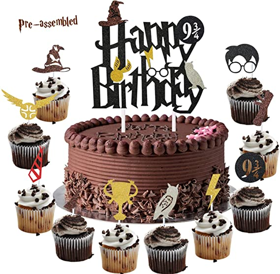 10//20pcs Harry Potter Cupcake Cake TOPPER Party Supplies Lolly Bag Bunting Book
