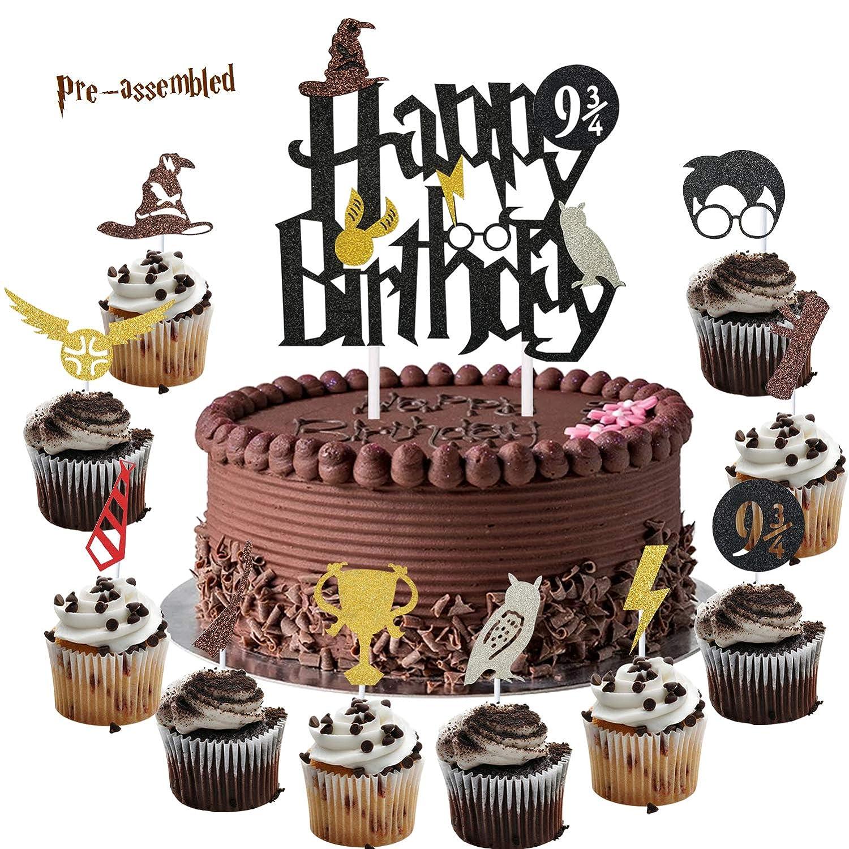 Sensational Harry Happy Birthday Cake Topper And Cupcake Toppers Cake Funny Birthday Cards Online Elaedamsfinfo