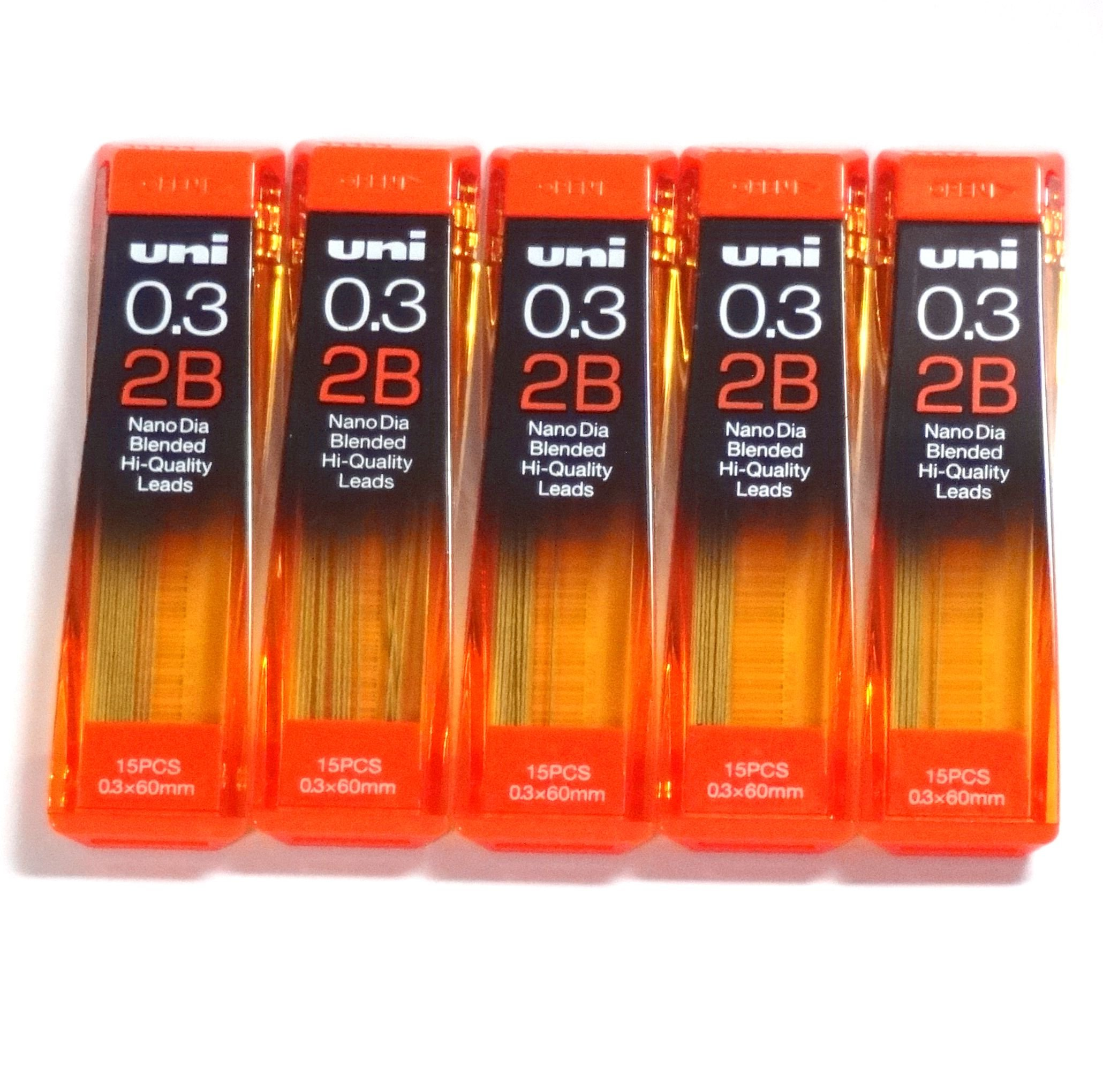 Uni NanoDia 75 Minas (5 Tubos) 0.3mm 2B
