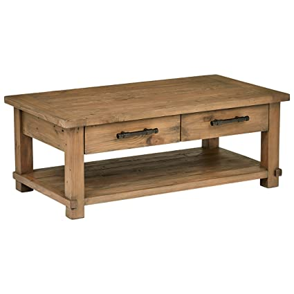 Rustic Coffee Table.Stone Beam Ferndale Rustic Coffee Table 51 W Pine