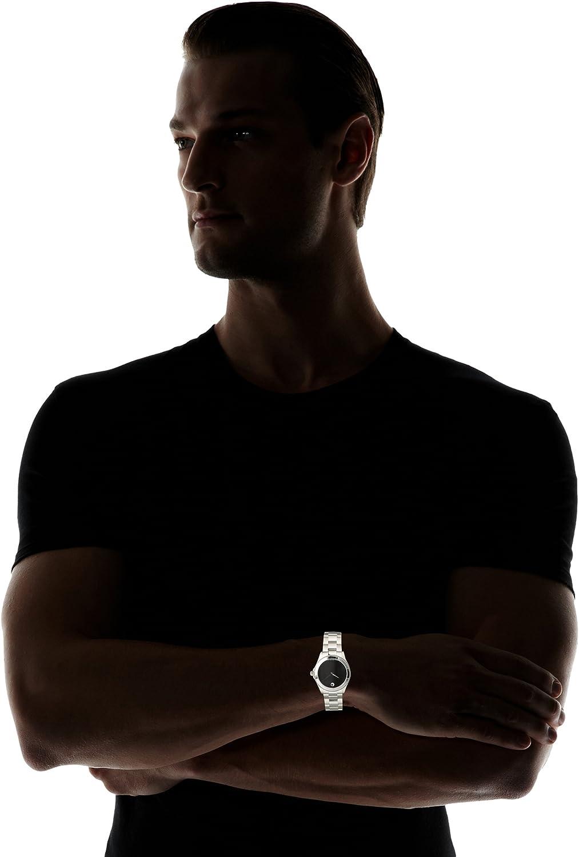 Movado Men's 605746 Sport Silver Black Stainless Steel Watch