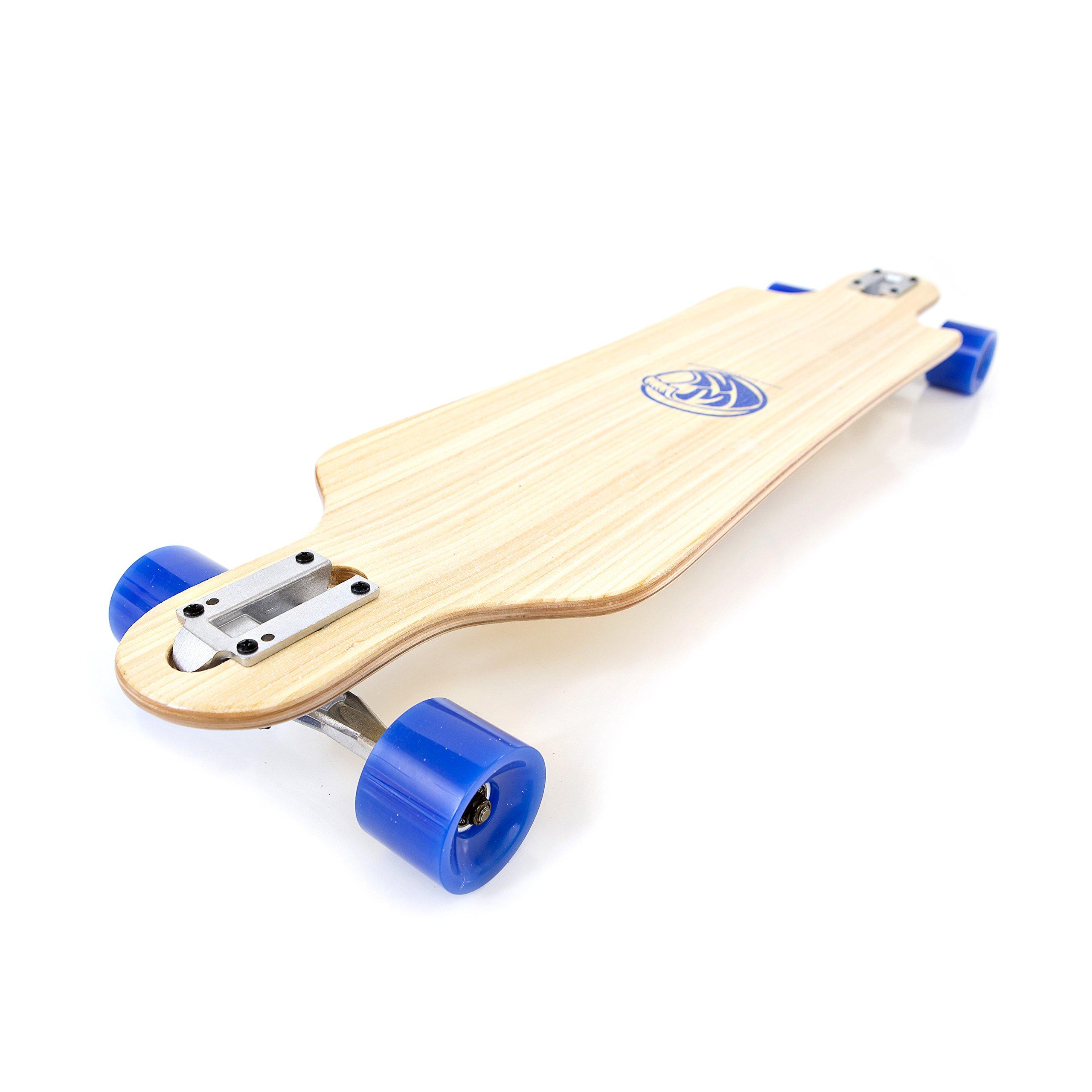 White Wave Bamboo Longboard Skateboard (Drifter)