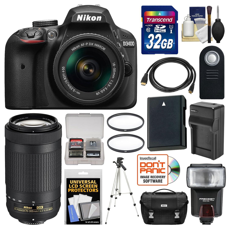 Nikon D3400 - Cámara réflex Digital con Lentes DX AF-P 18-55 mm VR ...