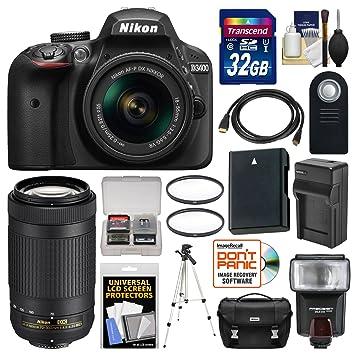 Nikon D3400 - Cámara réflex Digital con Lentes DX AF-P 18-55 ...