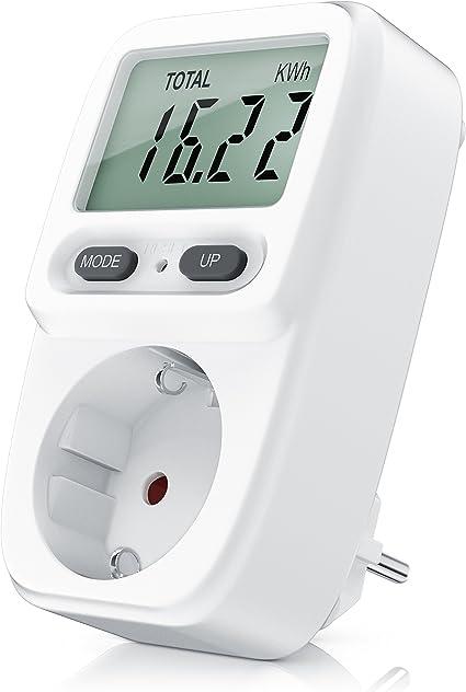 Impostazioni CO2 Misuratore di costi energetici con monitor su cavo di 1,5 metri Bearware Data Ora Costo 3680W Power Cost Monitor