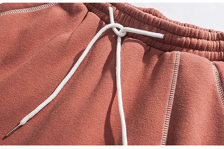 SANHION Mens Joggers Sweatpants Basic Flannel Jogger Pant Elastic Waist