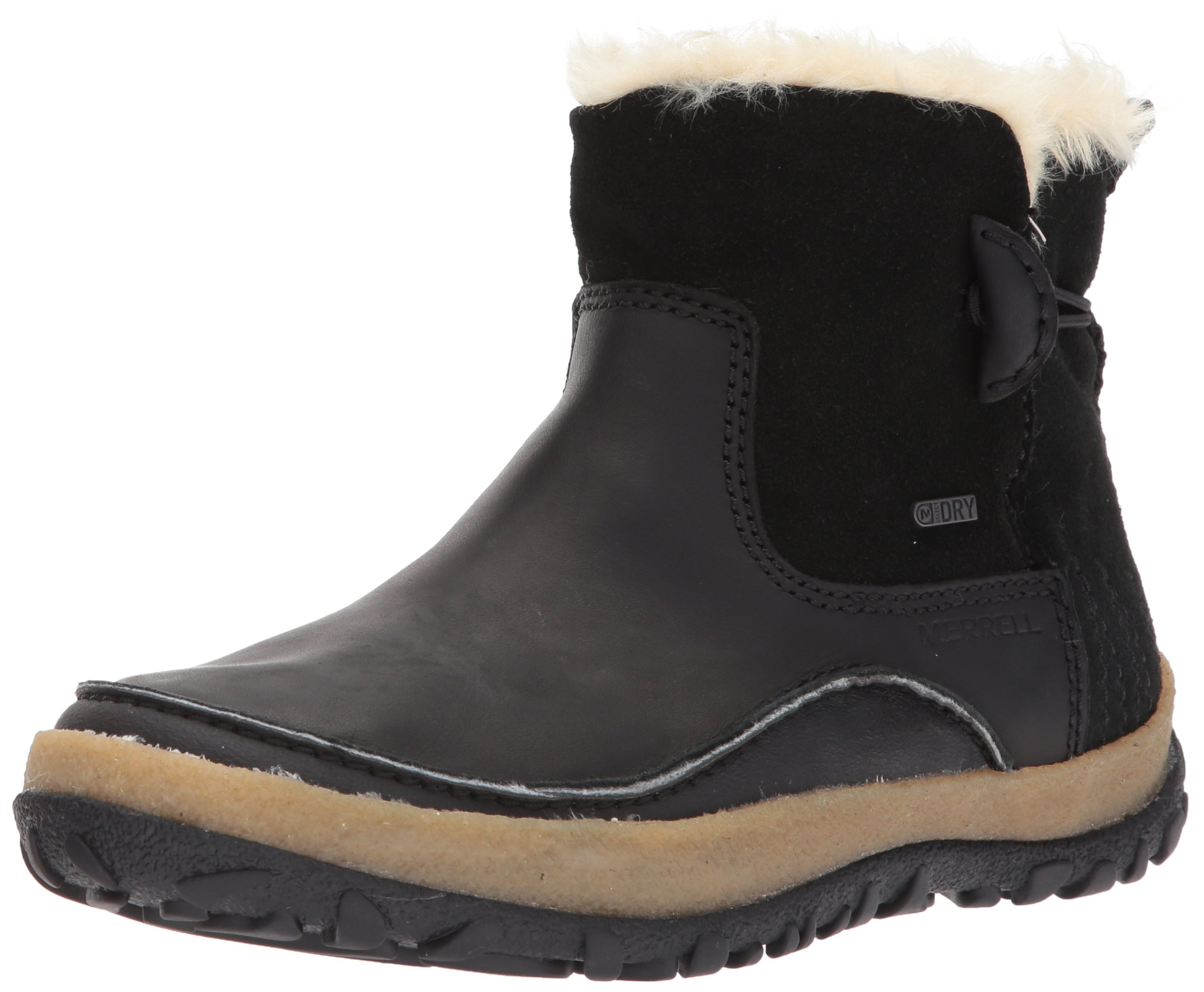 Merrell Women's Tremblant Pull On Polar Waterproof Snow Boot, Black, 10 M US