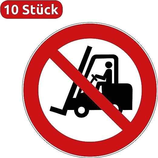 Gabelstapler Durchfahrt verboten Aufkleber