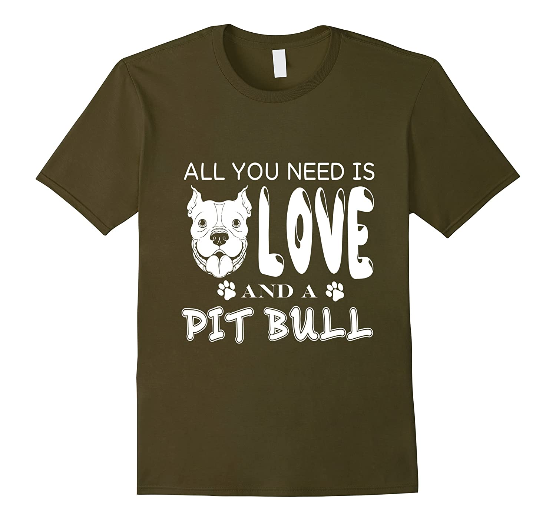 Love And A Pit Bull T Shirt Love Pit Bull T Shirt-CD