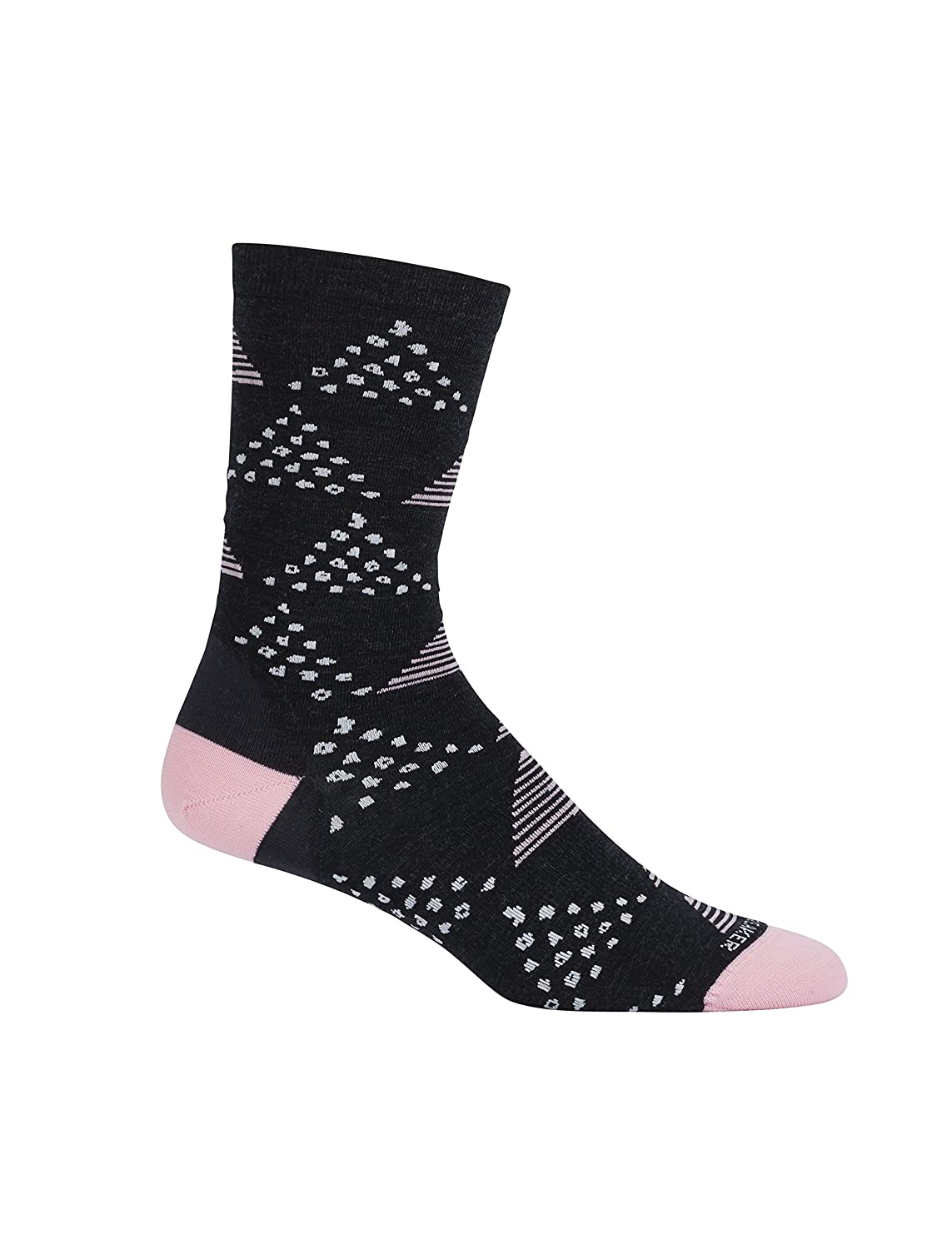 Icebreaker Women's Lifestyle Ultra Light Crew Socks Dot and Dash Black/Teardrop One Size IBN313