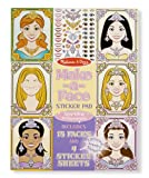 Melissa & Doug Make-a-Face Sticker Pad: Sparkling Princesses - 15 Faces, 4 Sticker Sheets