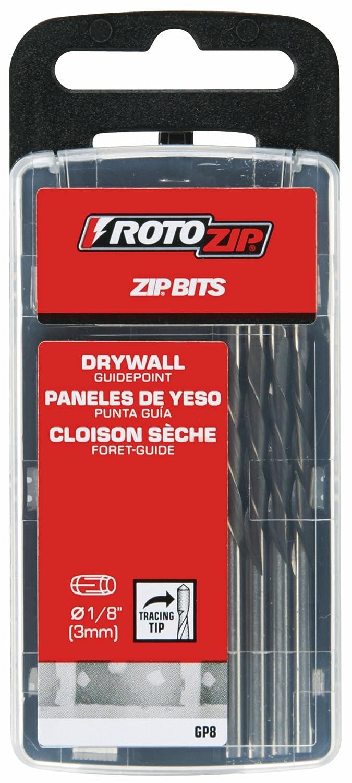 Roto Zip GP8/Trockenbaufr/äser-Bit mit F/ührungsspitze 1//8 Zoll 8er-Set