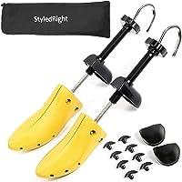 StyledRight - Estirador de zapatos unisex de 2 vías para hombres y mujeres, longitud elástica y pies anchos