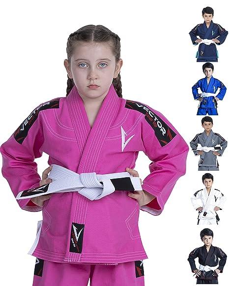 Vector Kids Brazilian Jiu Jitsu BJJ Gi Kimono Attila series pre shrunk-FREE belt