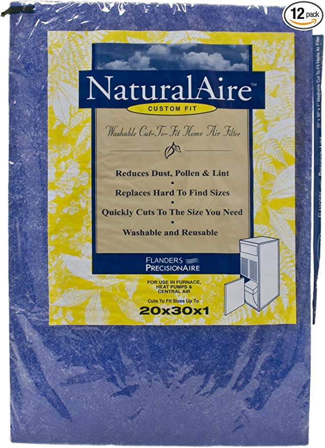 """14/""""x 14/""""x 1/"""" 3-Pack AC Furnace Air Filter Rigid Washable Cut to Fit"""