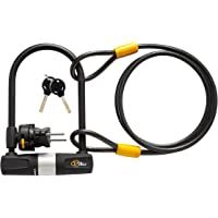Via Velo Heavy Duty Bicycle U-Lock with Mounting Bracket Cable
