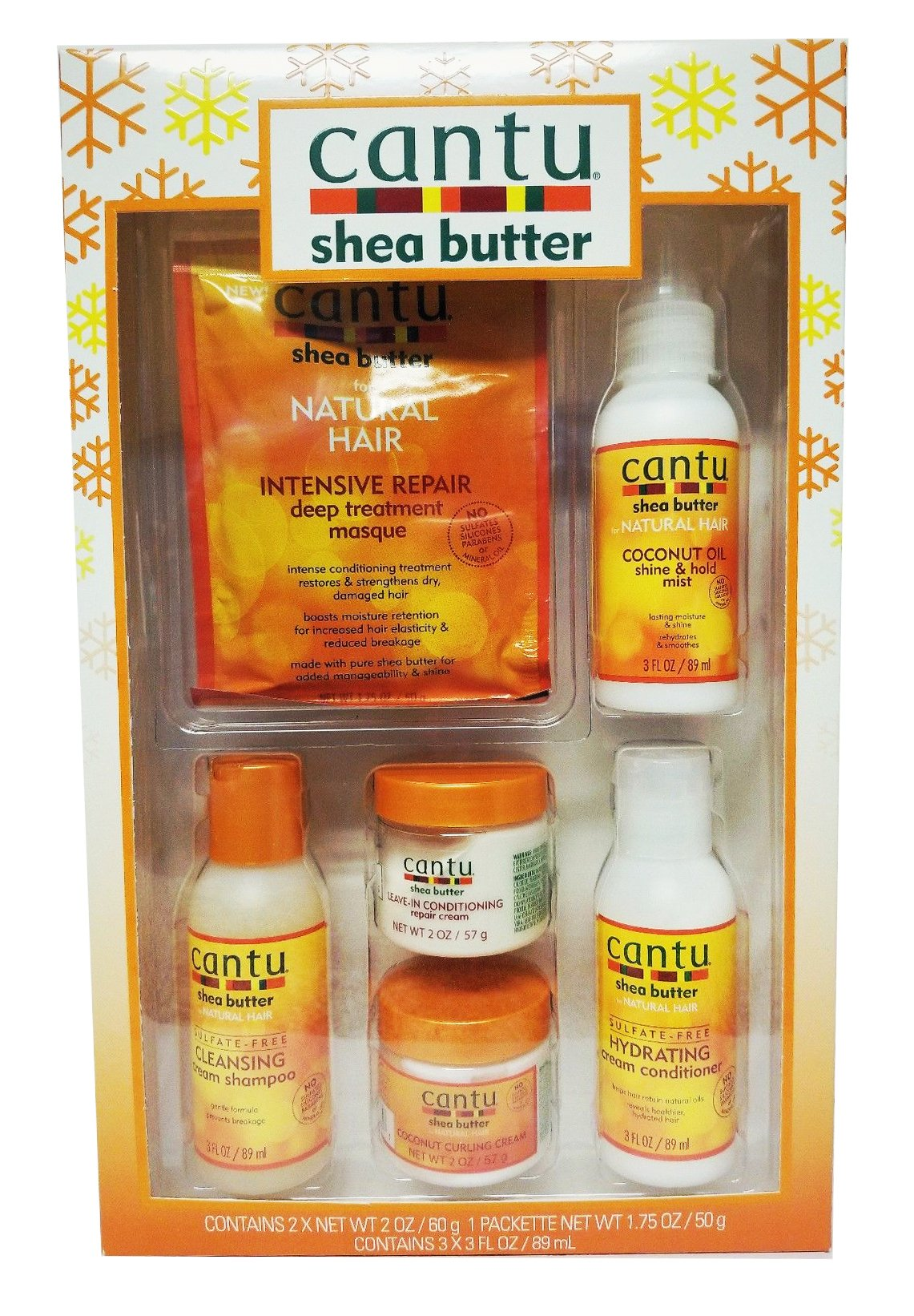 Cantu Shea Butter Limited Edition Curl Care 6-Piece Travel Gift Set by Cantu (Image #1)