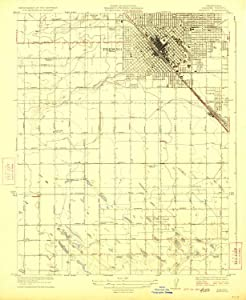 YellowMaps Fresno CA topo map, 1:31680 Scale, 7.5 X 7.5 Minute, Historical, 1923, 19.8 x 16.2 in