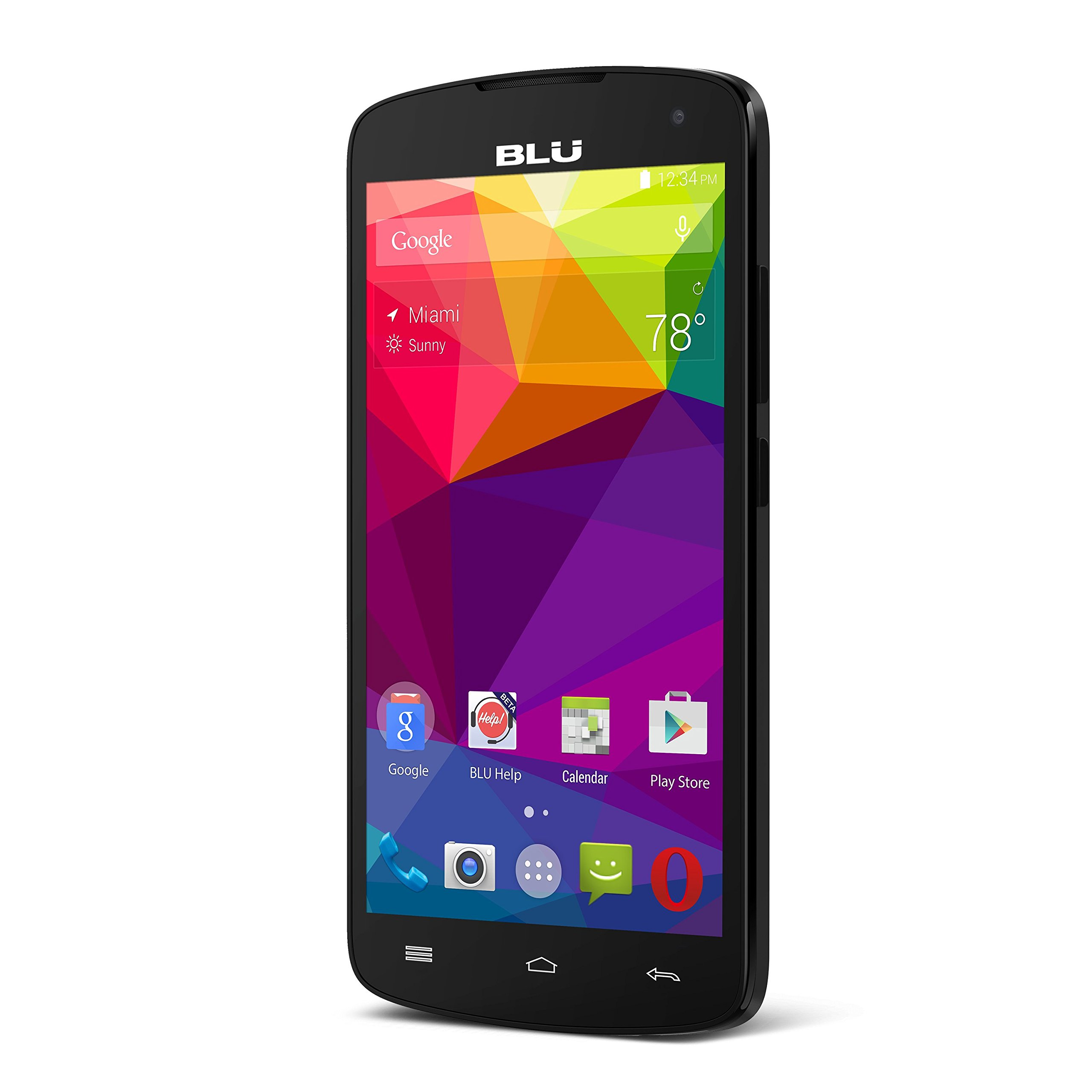 "BLU Studio X8 HD - 5.0"" GSM Unlocked Smartphone -Black"