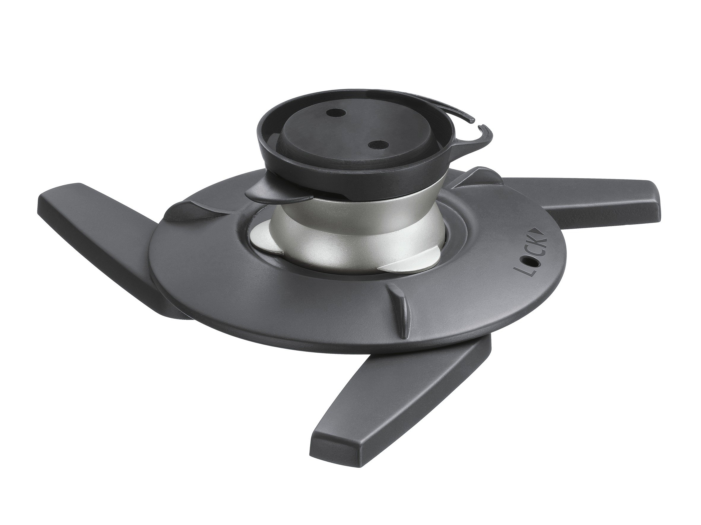 Vogel's Projector Mount for Wall or Ceiling, Universal Fit, Swivel and Tilt, Max 22 lbs - EPC 6545 Ceiling Mount, Black/Silver