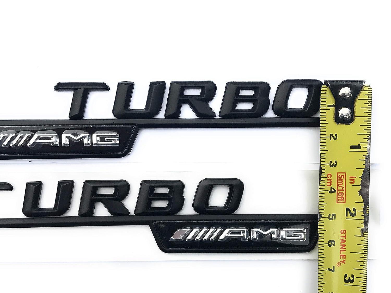 AMG Turbo Wing Emblem Emblem Logo A45 CLA 45 C63 E63 ML55 ML63 schwarz