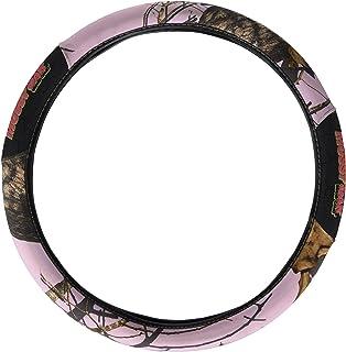 mossy oak steering wheel cover 2 grip bark camo pink