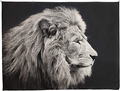 Miss DeCor Lion Wall Hanging Tapestry Thick Microfiber Animal Decoration for Bedroom Living Room Large 78.7 x59.1