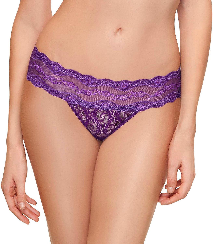 b.temptd Womens Lace Kiss Thong Panty