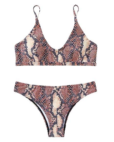 Amazon.com: MOOSKINI Conjunto de traje de baño bikini ...