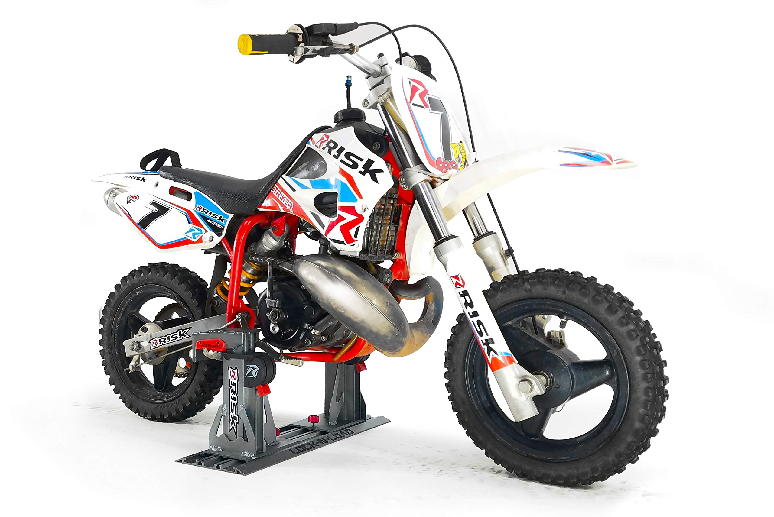 Risk Racing 00176 Silver Lock-N-Load PRO Mini - Strapless Motocross Transport System by Risk Racing (Image #2)