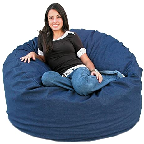Cozy Sack 3 Feet Bean Bag Chair Medium Denim