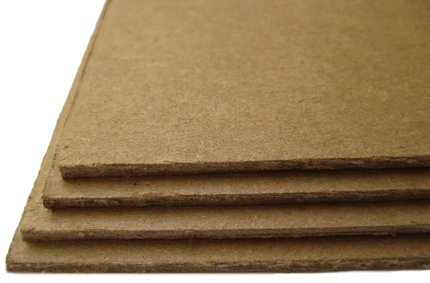 50 Sheets Brown Chipboard 100 Point Extra Thick 5 X 5 Inches Square Scrapbook Album Size .100 Caliper XXX Heavy Cardboard as Thick as 25 Sheets 20# Paper