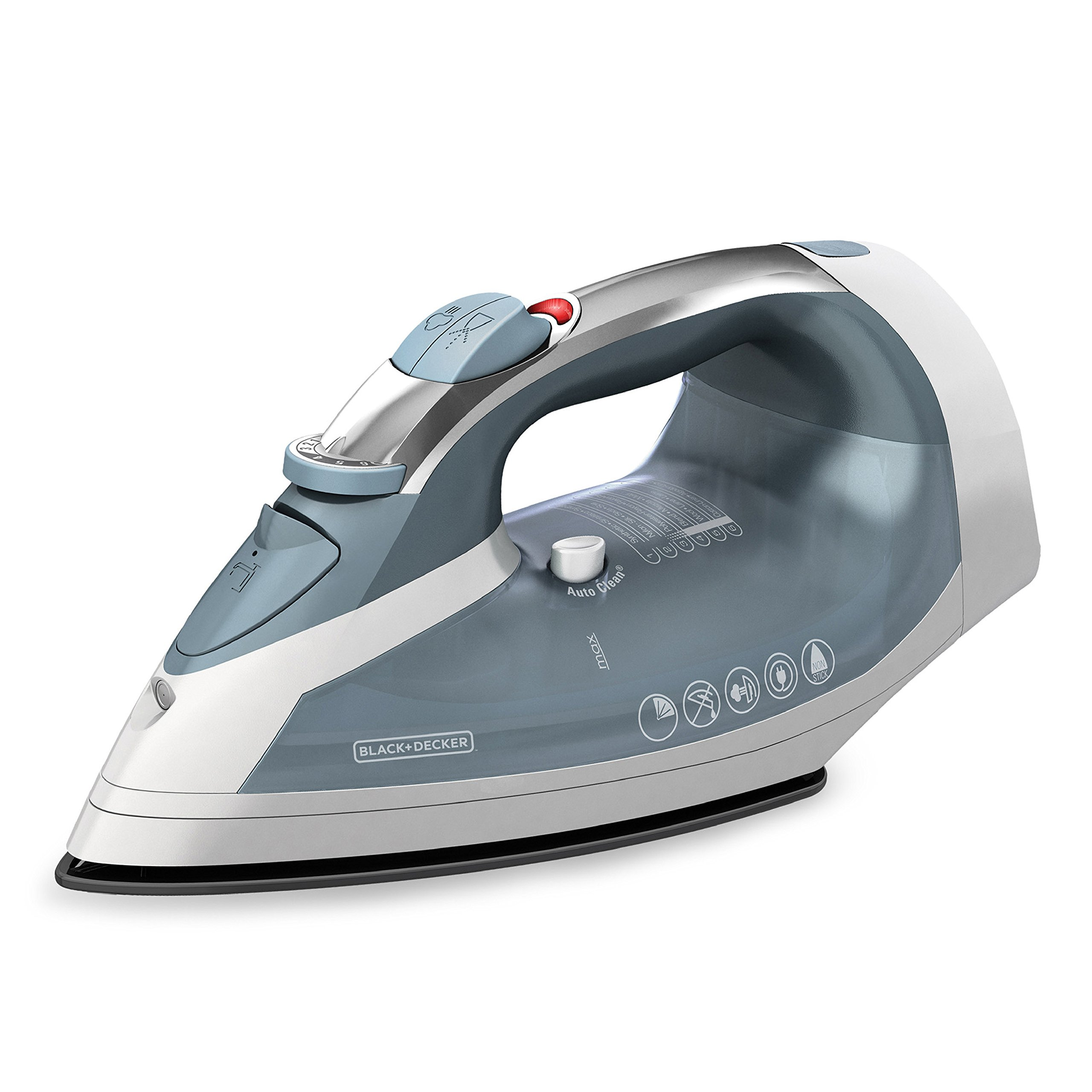 BLACK+DECKER Cord-Reel Steam Iron, Grey/White, ICR05X by BLACK+DECKER