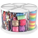 """Deflecto Rotating Carousel Organizer, Six 6"""" Canisters (3900CR)"""
