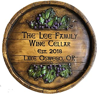 product image for Piazza Pisano Wine Barrel Large Personalized Sign