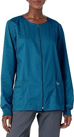 CHEROKEE Womens 4315 Workwear Core Stretch Warm Up Scrubs Jacket Medical Scrubs Jacket