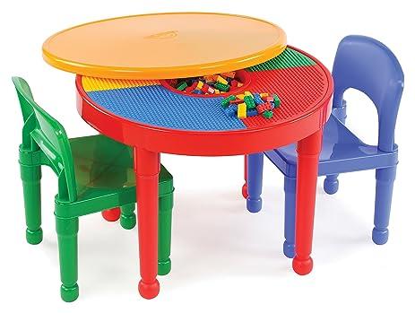 Amazon.com: Tot Tutors Kids 2-in-1 Plastic LEGO-Compatible ...