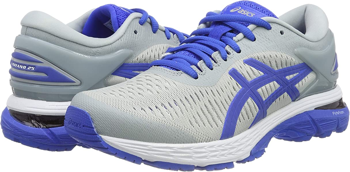 d5302223d4 ASICS Women's Gel Kayano 25 Lite Show, MID Grey/Illusion Blue, 7.5 B. Back.  Double-tap to zoom