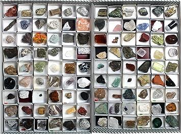 Arcoci Colección de 108 minerales y rocas: Amazon.es: Juguetes y juegos