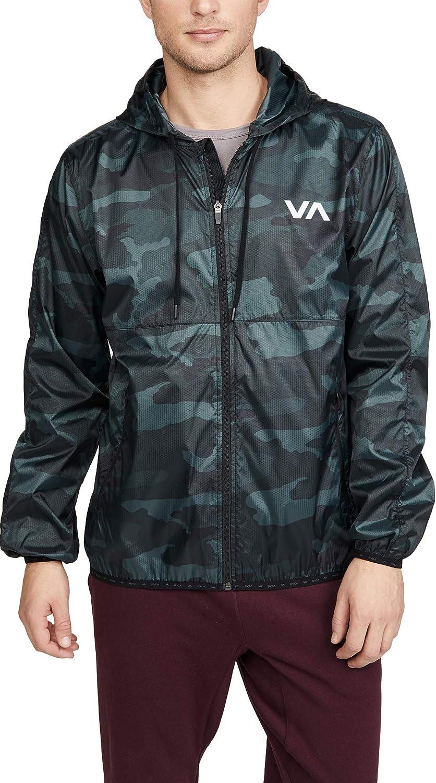 RVCA mens Hexstop Iv Windbreaker Jacket: Clothing
