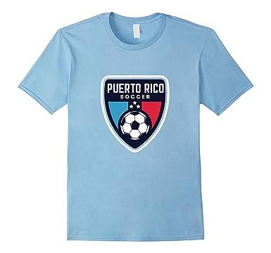 Mens Puerto Rico Soccer Futbol Balompie t Shirt Tee Camiseta 3XL Baby Blue