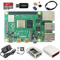 DIGISHUO Raspberry Pi 4B Model B 8GB RAM DIY 9 in 1 Kit Two Case Cooling Fan 32G SD Card Micro-SD HDMI (8G Module 9 in 1…