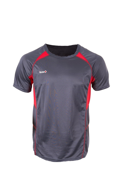 Izas Teleno Camiseta Manga Corta, Hombre, Gris Oscuro/Rojo, S Izas Outdoor IMSTS00415_DARKGREY/RED-S
