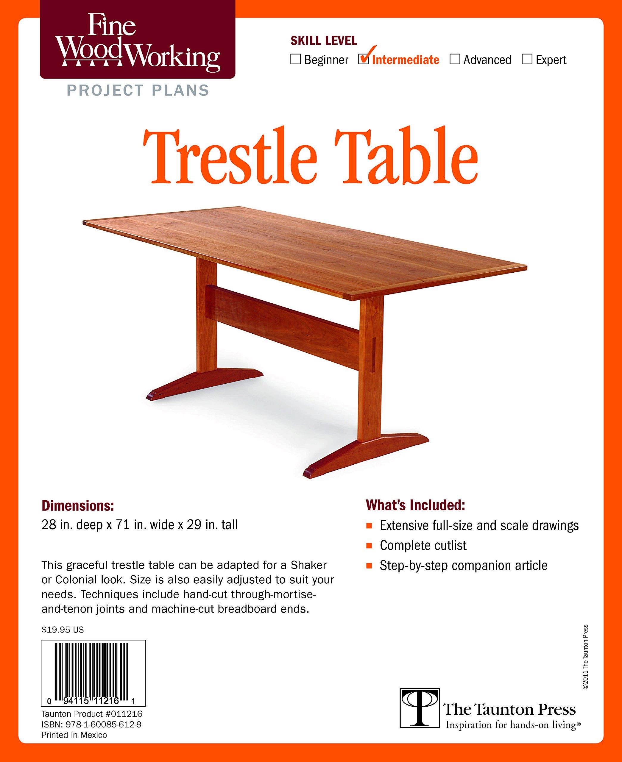 Fine Woodworking S Trestle Table Plan Editors Of 9781600856129 Amazon Com Books