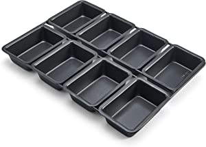 Chicago Metallic Professional 8-Cup Non-Stick Linked Mini Loaf Pans, 12.75-Inch-by-9-Inch