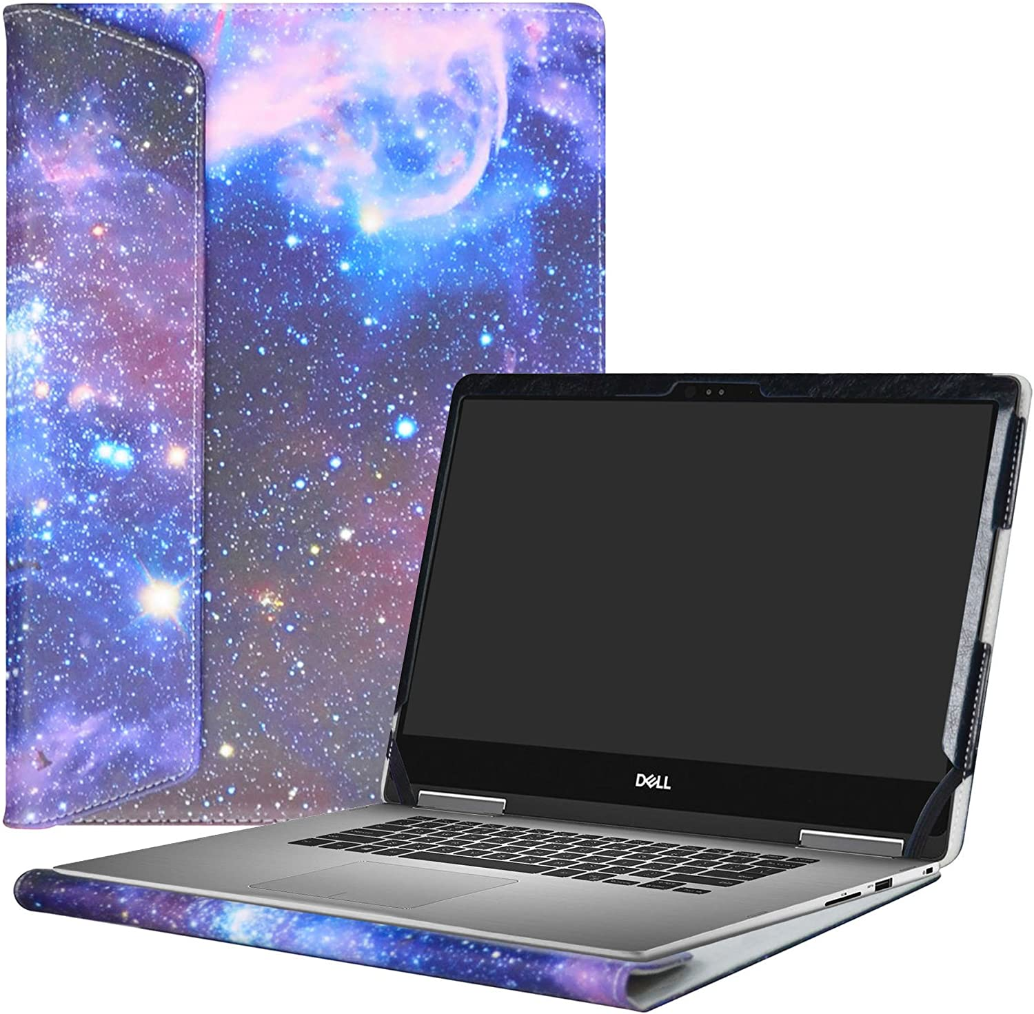"""Alapmk Protective Case Cover for 13.3"""" Dell Inspiron 13 2-in-1 7373 i7373 / Inspiron 13 7370 i7370 Laptop(Warning:only fit Model 7373 7370),Galaxy"""