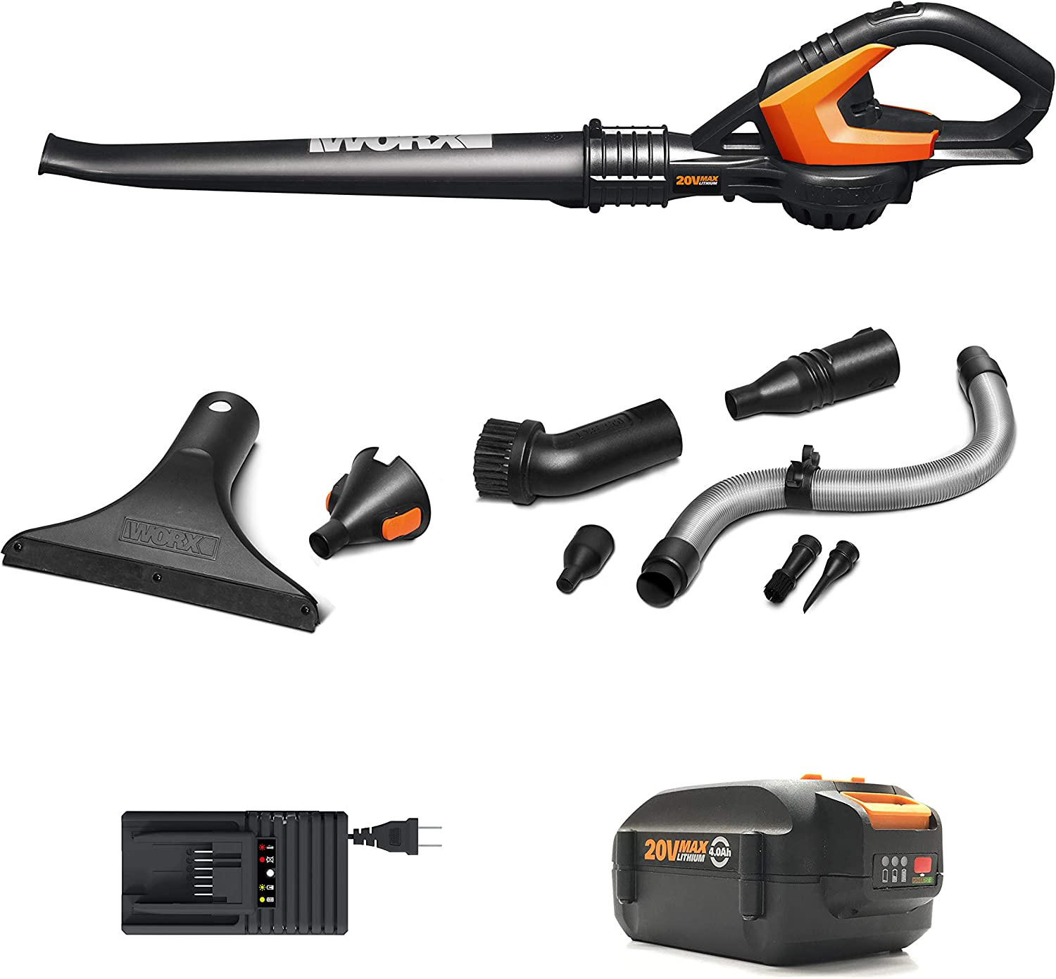 WORX WG545.4 Cordless Hi-Capacity Blower, Battery Included