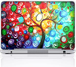 Meffort Inc Personalized Laptop Notebook Notebook Skin Sticker Cover Art Decal, Customize Your Name (15.6 Inch, Colorful Tree)